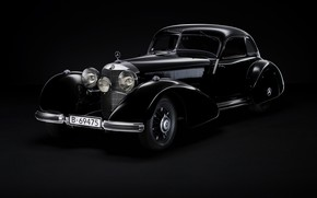 Picture retro, coupe, Mercedes-Benz, 540K