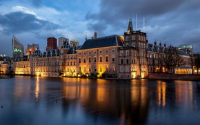 Picture lights, the evening, Netherlands, Holland, The Hague