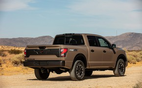 Picture back, Nissan, side, pickup, Titan, 2020, Pro-4X