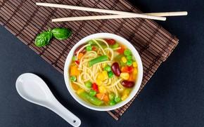 Picture peas, soup, vegetables, pasta, beans