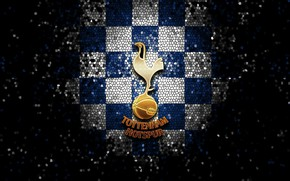 Picture wallpaper, sport, logo, football, glitter, Tottenham Hotspur, checkered