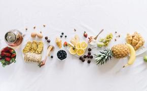 Picture berries, Breakfast, fruit, breakfast, Sweet, Banana, Egg