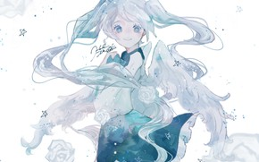 Picture girl, Hatsune Miku, Vocaloid, stars