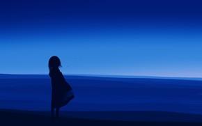 Picture girl, twilight, postapokalipsis, by Gracile, пустяня
