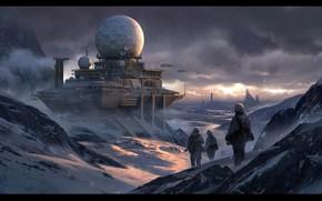 Picture snow, ball, construction, Snow Base, radarbase