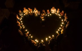 Picture memory, heart, candles, all saints day, Heartween