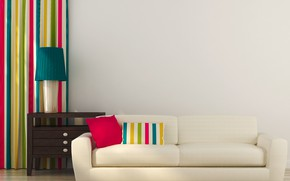 Picture design, room, interior, pillow, living room, modern, coloful