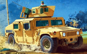 Picture USA, Hummer, armored car, US Army, vehicle, Humvee, All terrain vehicle, Chang Heum, M1151 Enhanced …