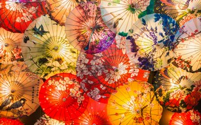 Picture patterns, umbrellas, a lot, by Rikitza