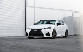 Picture Lexus, Japan, White, Sight, GSF