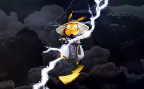 Picture Clouds, Zipper, Fantasy, Lightning, Mortal Kombat, Raiden, Pikachu, MK, madeinkipish, Pikachu-Raiden Fanart, Thiago Gualtieri, by …