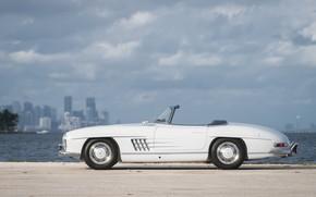 Picture White, Retro, 1959 Mercedes-Benz 300 SL Roadster