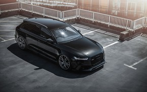 Wallpaper Audi, Audi, auto, Black, RS6, рс6