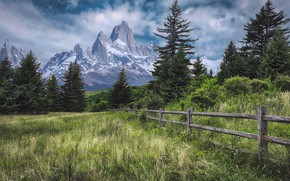 Picture mountains, nature, the fence