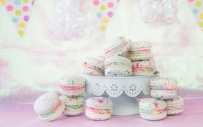 Picture cake, colorful, decor, macaroon