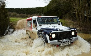 Picture water, Land Rover, Defender, 2013, 2014, Challenge, Bowler