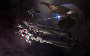Picture Space, Ship, Ships, Space, Art, Spaceship, Fiction, Spaceship, John Wallin Liberto, by John Wallin Liberto, …