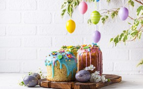 Picture holiday, eggs, spring, Easter, cakes