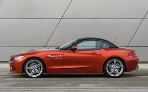 Picture BMW, Roadster, 2013, E89, BMW Z4, Z4, sDrive35is, near the wall