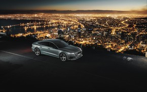 Picture Audi, Auto, Night, The city, Machine, City, Night, Audi A7, Silver, A7, Transport & Vehicles, …