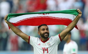 Picture Football, Sport, Soccer, Flag, Iran, Iranian, Team Melli, Iran National Football Team, Ghoddos, Saman Ghoddos, …