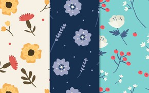 Picture white, flowers, blue, background, blue, texture, patterns, flowers, Pretty
