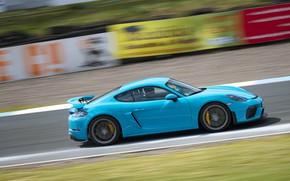Picture Porsche, Speed, Cayman, GT4, 2019, Porsche 718 (982) Cayman GT4