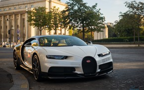 Picture city, the city, Bugatti, hypercar, Chiron