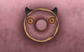 Picture background, art, donut