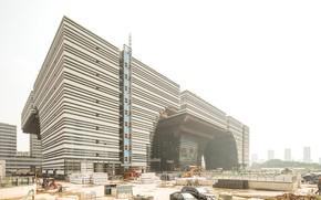 Picture construction, architecture, construction, Playground, Changzhou Culture Center Under Construction