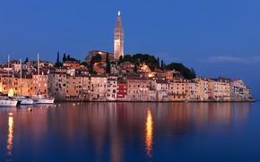 Picture sea, coast, building, home, yachts, Croatia, Istria, Croatia, The Adriatic sea, Rovinj, Rovinj, Adriatic Sea, …
