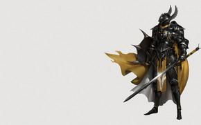 Picture Minimalism, Armor, Sword, Warrior, Warrior, Knight, Shield, Knight, Minimalism, Sword, Shield, Armor, Dark Knight, by …