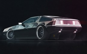 Picture Auto, Machine, DeLorean DMC-12, DeLorean, DMC-12, Rendering, Mikhail Solovarov, by Mikhail Solovarov