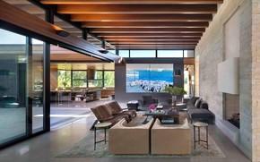 Picture Villa, interior, kitchen, living room, Countryside Lane