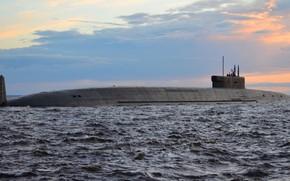 Picture submarine, underwater, cruiser, Borey