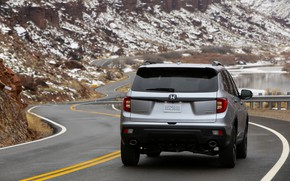 Picture road, Honda, rear view, 2019, Passport