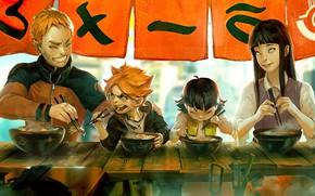Picture Family, Naruto, Naruto, Uzumaki Naruto, Hinata Hugo, Boruto, Boruto, Himawari, Uzumaki Boruto