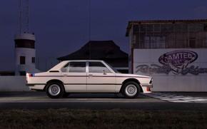 Picture BMW, sedan, 1976, in profile, four-door, 5-series, E12, 530 MLE