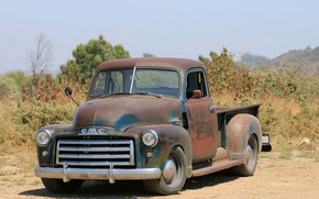 Picture vegetation, 150, pickup, shrub, 2018, GMC, 1949, ICON, Long Bed Derelict, GMC 150