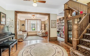 Picture design, style, interior, piano, ladder, library, living room, hall, stairs, the lobby, home, Windsor Place