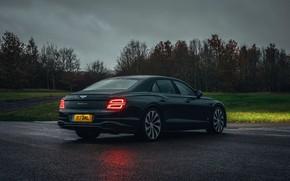 Picture overcast, Bentley, Flying Spur, 2020, V8, humidity, 2021, Flying Spur V8