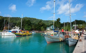 Picture Marina, ships, Seychelles, port, Seychelles, The Dike