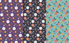 Picture retro, background, pattern, flowers, seamless