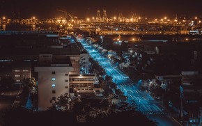 Picture night, the city, Taiwan, Kaohsiung