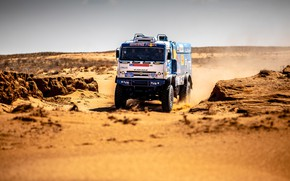 Picture Sand, Auto, Machine, Speed, Truck, Race, Master, Russia, 2018, Kamaz, Rally, KAMAZ-master, Rally, KAMAZ, The …