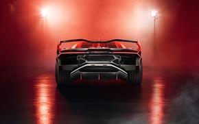 Picture Lamborghini, supercar, rear view, 2018, SC18