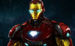 Picture background, fiction, art, costume, Iron man, Iron Man, comic, MARVEL
