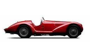 Picture Red, Sports, Classic car, Alfa Romeo 8C 2900 Mille Miglia Spider 1938