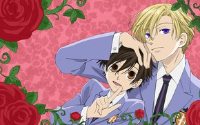 Picture roses, guys, Host club Ouran high school, Ouran Koukou Host Club