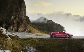 Picture mountains, Audi, the evening, Audi R8, side view, Spyder, V10, 2020, RWD